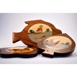 Posavasos de madera (juego de 6)