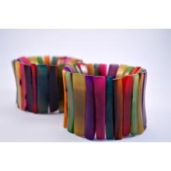Bisuteria cebu: Brazalete colores piezas alargadas