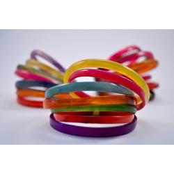 Juego de 7 pulseras finas de colores diferentes